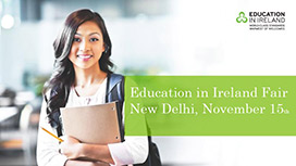 Meet the Irish universities & colleges at the Education in Ireland fair in New Delhi on November 15th