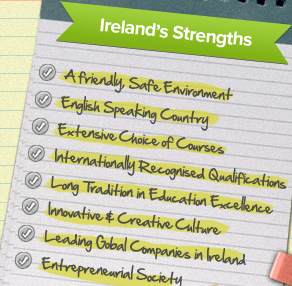 A list of Irelands Strengths